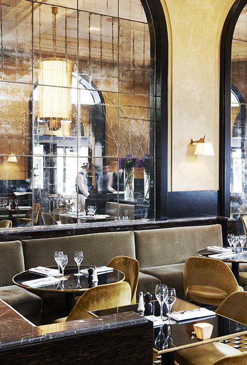 Redecoracion del Restaurante Flendrin en Paris por el interiorista Joseph Dirand