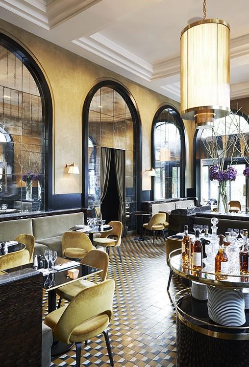 Interiorismo del Restaurante Flendrin en Paris por el interiorista Joseph Dirand